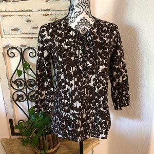 J crew  collection brown and white tunic